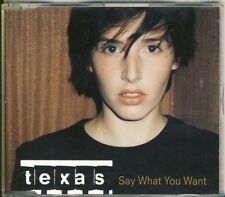 Texas-Say What You Want UK 4 TRK CD Maxi