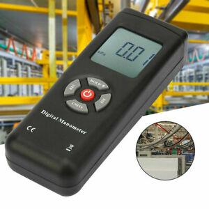 TL100 LCD Digital Manometer Differential Air Pressure Meter +2psi Gauge