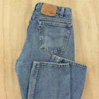 vtg usa made red tab LEVI's 505 fit jeans 36 x 31 tag blue faded distressed