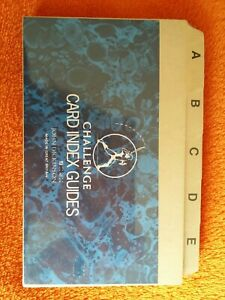 """Challenge A-Z Card Index Guides 5x3"""" 127x76mm Buff Index Box Divider Record Card"""