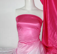 Pink Dip dye Poly/Nylon 4 way stretch shiny Fabric