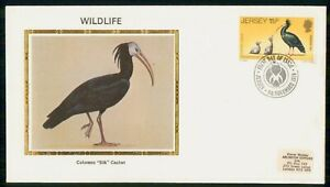 Mayfairstamps Jersey FDC 1979 Waldrapp Ibis Colorano Silk First Day Cover wwk_01