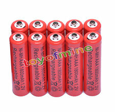 10x AAA 1800mAh 1.2V Ni-MH Rechargeable battery 3A Red Cell for MP3 RC Toys