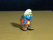 Smurfs Hiker Smurf Hiking Boots Backpack Figure Vintage Toy PVC Figurine 20473