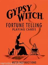 Gypsy Witch Fortune Telling Deck NEW Sealed Meanings on 52 cards Vintage Art