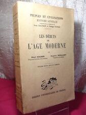 LES DEBUTS DE L'AGE MODERNE  (1492-1519) - Henri HAUSER & Augustin RENAUDET