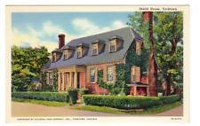 VA - YORKTOWN VIRGINIA 1937 Postcard SHEILD SHIELD HOUSE