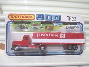 Lesney Matchbox 1978 TP23 FIRESTONE Long Haul Transport Two Pack Nu +UnopenedPkg