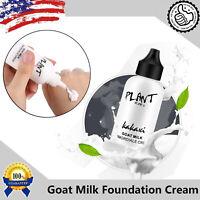 Makeup Foundation Primer Goat Milk Cream Whitening Moisturizer Waterproof