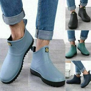 Men Women Wellington Rain Boots Shoes Size 6-11 Ankle Wellies Waterproof Outdoor