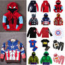 Kid Toddler Boys Girls Superhero Hoodie Coat Sweatshirt/T-Shirt/2Pcs Outfits Set