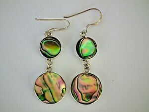 Boucles d'Oreille - Pawa/Abalone - Argent - 925/1000 - NEUF *