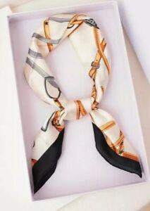 Woman's Silk Neck Scarf  Horse-bit Detail summer wear New Equestrian New