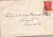"""CANADA SCOTT 197 KING GEORGE V ON COVER CANCELLED """"R.P.O."""" c. 1930-SMALL TEAR"""