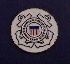 "United States Coast Guard 1.5"" 1 1/2"" round Lapel Pin Us Uscg Anchor"