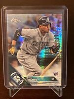 2016 Topps Chrome Ketel Marte Rookie Prism Refractor Seattle Mariners RC SP Mint