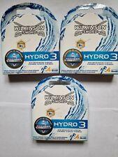 3 x Wilkinson Sword Genuine Hydro 3 4 Pack Razor Blades New & Sealed Freepost