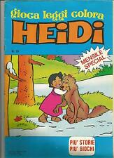 Special HEIDI N.19 - Il Sorriso Del Lupo -  Gioca Leggi Colora - 1980 - OTTIMO