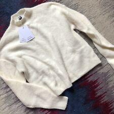 & Other Stories Alpaca Wool Blend Cream Oversized Jumper High Neck Size XS BNWT