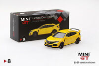 Mini GT 1/64 2017 Honda Civic Type R (FK8) Phoenix Yellow Diecast Car MGT00008
