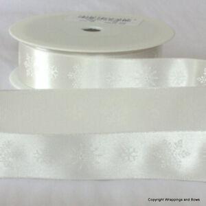 Christmas Ribbon 1 metre length Satin Grosgrain Organza Twill *Lots of Designs*