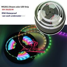 5M WS2811 5050 RGB Dream Color 30LED/M  150 LED Strip Light IP68 Waterproof
