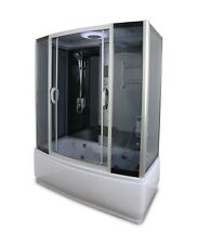 Y9007 Rectangle Steam shower enclosure with whirlpool tub base and Sliding Doors