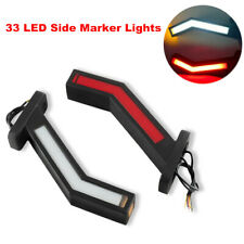 2PCS Car LED Side Marker Light Outline Lamp For Trailer Truck Van 12-24V Vehicle