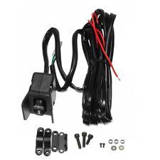 12V ATV UTV Winch Rocker Thumb Thumb Handle Bar Switch Control Black Wire Kit