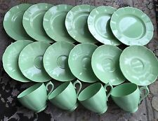 Rare Vintage (1940s) Set of Royal Leighton Ware Tea Cups, Saucers & Side Plates