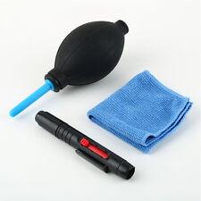 3 in 1 Lens Cleaning Kit Pen Cleaner Set Brush Blower Cloth for DSLR Camera