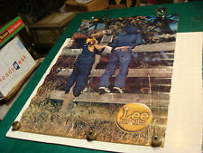 """original 1980's LEE Brand aprox 23 x 32"""" POSTER: lee for kids, on wood fence"""