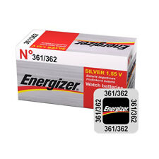 1 x ENERGIZER 362 361 BATTERY 1.5V COIN SILVER WATCH BATTERIES SR58 SR721SW