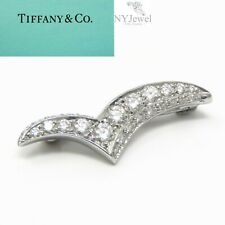 NYJEWEL Tiffany & Co. Platinum PT950 Diamond Seagull Pin Brooch