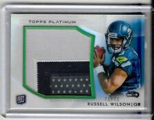 RUSSELL WILSON 2012 TOPPS PLATINUM ROOKIE 3 COLOR PATCH # 71/71