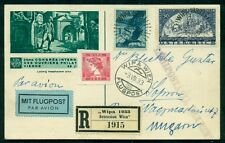 AUSTRIA 1933 card from WIPA show to Hungary franked w/scarcer stamps (B110,C27),