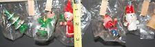 Set of ten Mini Wooden Christmas Ornaments