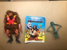 Vintage MOTU Grizzlor He-Man Masters of the Universe loose figure comic book New