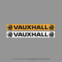 SKU2051 - Vauxhall Number Plate Dealer Logo Cover Stickers - 140mm x 18mm