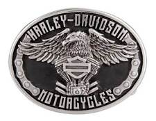 Harley-Davidson Men's Eagle Rider Polished Silver Finish Belt Buckle HDMBU11133