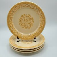 "Set of 4 Franciscan GINGERSNAP 8 3/4"" Salad Plates NICE**"