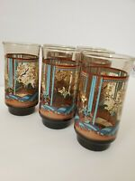 MCM Vintage Yvette Smoked Amber Tumblers.Perfect Condition!  GORGEOUS!  Lot of 6