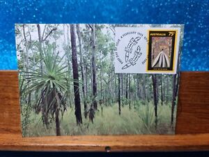First Day Cover Postcard📮1993 (75c) Darwin NT YAM PLANTS 1979 📮 AUST POST