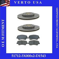 CERAMIC PADS 86562PK POWER CROSS DRILLED SLOTTED PLATED BRAKE ROTORS FRONT