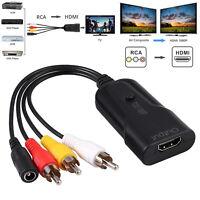 RCA AV to HDMI Adapter Converter 3RCA CVBS Video Audio 1080P for VCR DVD Player
