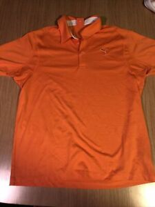 LOT OF 12 PUMA GOLF MENS SIZE MENS ADULT MEDIUM POLO SHIRTS EXCELLENT USED COND