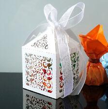 50PCS Laser Cut Love Vine Candy Boxes Wedding Favours Gift Bags Babyshower Sweet