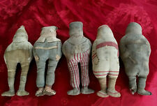 Five Antique Brownie Dolls