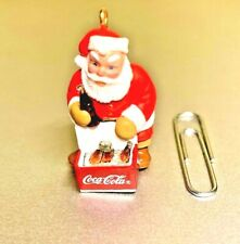 Hallmark 1993 Vtg Keepsake Ornament Collector's Club Cool Santa Coca Cola Nib