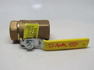 Apollo 70-140 Series Bronze Ball Valve w/ Stainless Steel 316 Ball & Stem